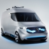 Electric Mercedes-Benz Vision Van with delivery drones