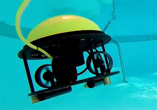 SeaDrone in a pool