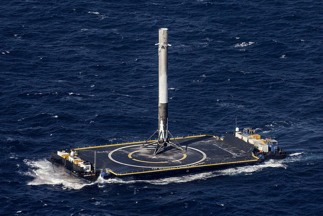 The first stage of SpaceX Falcon 9