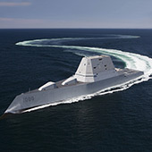 Stealthy warship USS Zumwalt to test its weapons