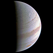 NASA's Juno finished the first flyby of Jupiter