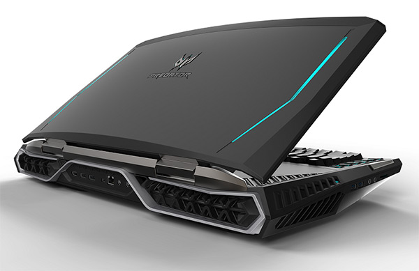 Acer Predator 21X back view