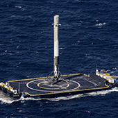 SpaceX lands on ocean droneship for the first time